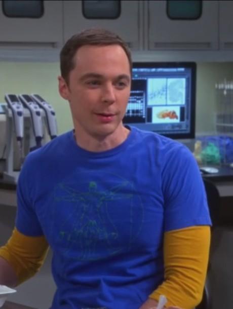 t-shirt blue big bang theory jim parsons sheldon cooper men t-shirts