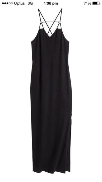 maxi spaghetti strap long dress