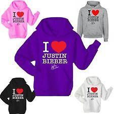 I LOVE JUSTIN BIEBER HOODIE TOP UNISEX | eBay