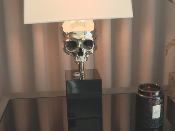 Home Accessory Skull Lamp Home Decor Lamp Grey White Kylie