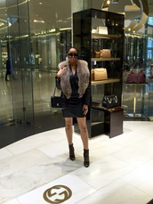 bag,chanel,chanel bag,hermes,balenciaga,leather jacket,bomber jacket,leather skirt,gucci,gucci shoes,boots,booties,sexy,fur,fur vest,fox fur,fur coat,london,blogger,fashion,style,style me