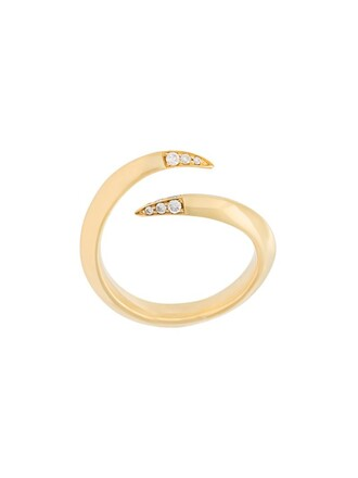 open metallic women ring jewels