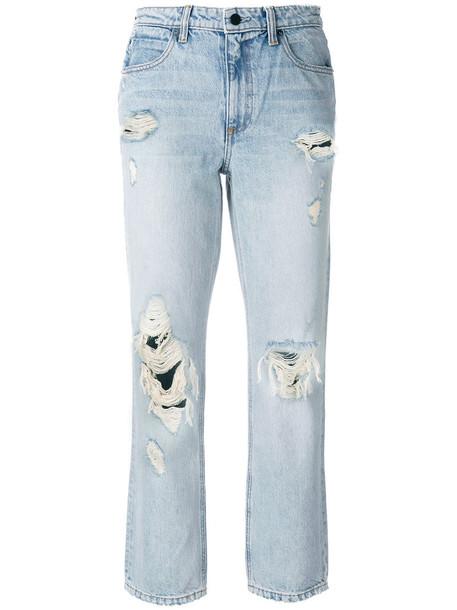 Alexander Wang jeans women cotton blue
