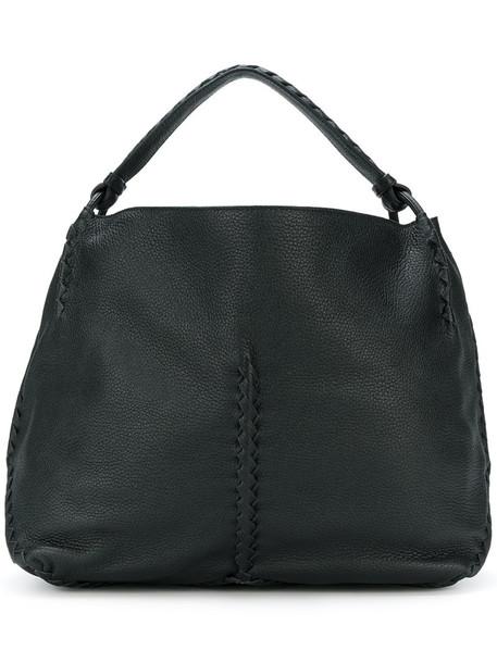 Bottega Veneta women leather black bag