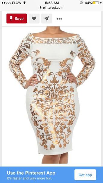 dress, plus size dress, bodycon dress, white dress - Wheretoget
