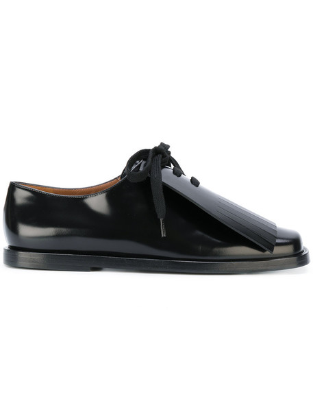 MARNI women shoes lace leather black