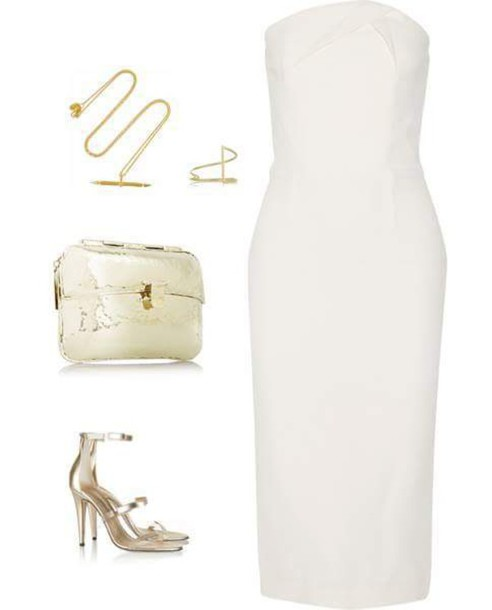 dress white dress classy party dress classy