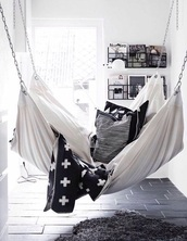 home accessory,hammock,chair,sofa,bedroom,living room,home decor,black and white,cozy,lazy day,beach house,our favorite home decor 2015,teen hammock