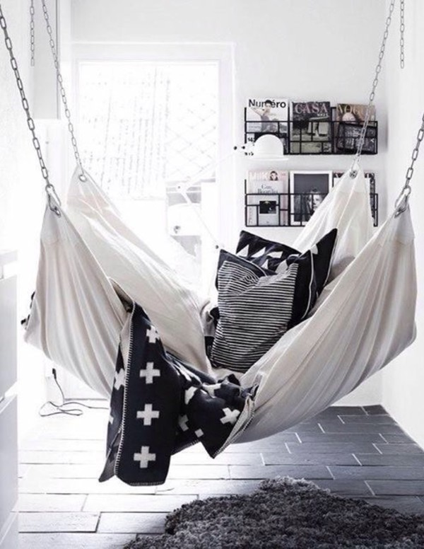 home accessory hammock chair sofa bedroom living room home decor black and white cozy lazy day beach house our favorite home decor 2015 teen hammock