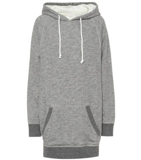 Rag & Bone Racer cotton hoodie dress in grey