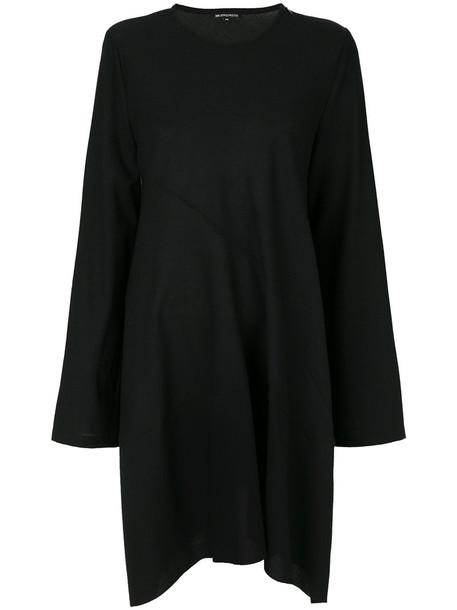 ANN DEMEULEMEESTER dress women spandex black wool