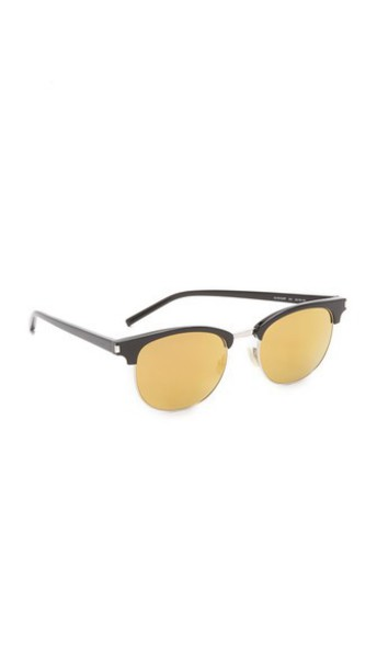 dc0c7cf7a7 Saint Laurent Sl 108 Surf Mirrored Sunglasses - Black/Gold