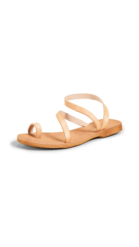 Cocobelle Crescent Strappy Sandals in natural
