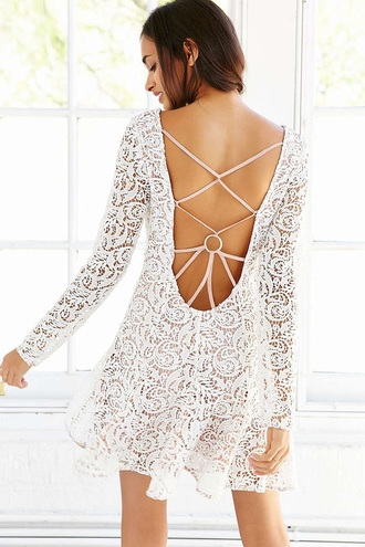 dress lace open back