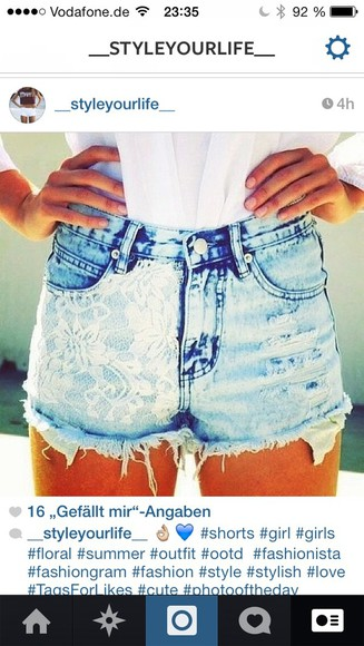 shorts high waisted short high-wasted denim shorts floral shorts blue high waisted destroyed jeans destroyed denim shorts flowered shorts high waisted blue shorts