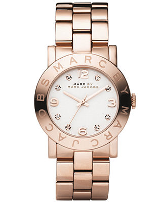 Marc by Marc Jacobs Watch, Women's Amy Rose Gold Ion Plated Stainless Steel Bracelet MBM3077 - Watches - Jewelry & Watches - Macy's