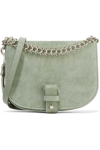bag shoulder bag suede mint