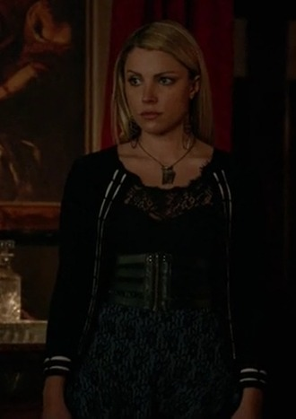 belt mary louise teressa liane the vampire diaries leather cardigan