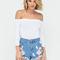 Desert flower embroidered denim shorts blue - gojane.com