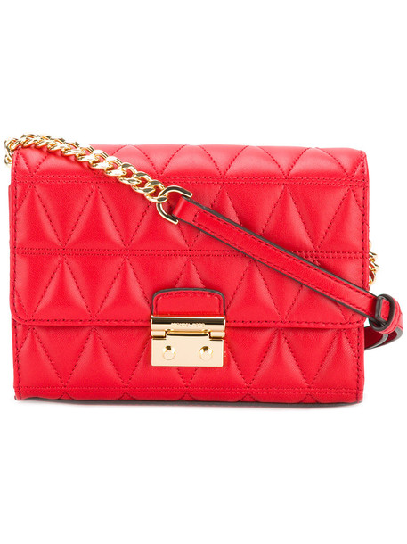 MICHAEL Michael Kors women quilted bag crossbody bag leather red