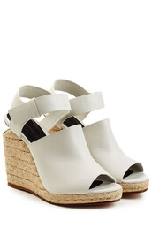 wedges,sandals,leather sandals,leather,white,shoes