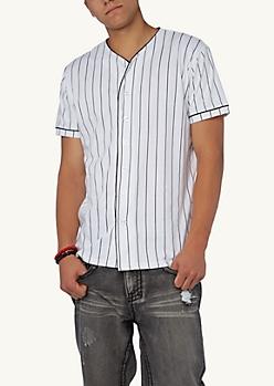 Dope Pinstripe Baseball Jersey | Tees | rue21