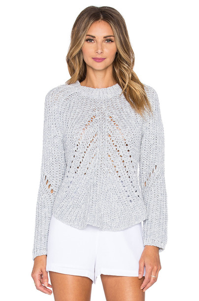 J.O.A. sweater asymmetrical blue