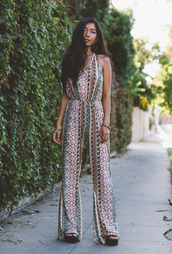 honey and silk,blogger,jumpsuit,jewels,palazzo jumpsuit