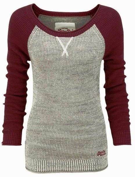 shirt thermal baseball burgundy
