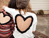 View Heart Cutout Apparel by BglorifiedBoutique on Etsy