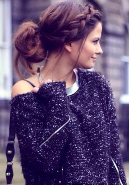 sweater blue wool navy