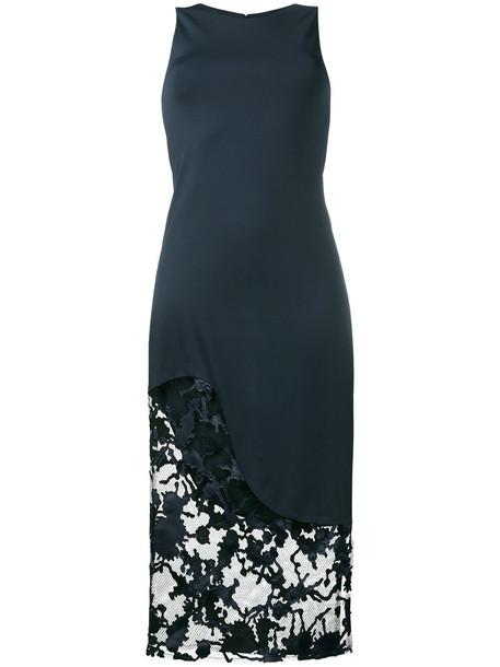 Haney dress women spandex lace blue