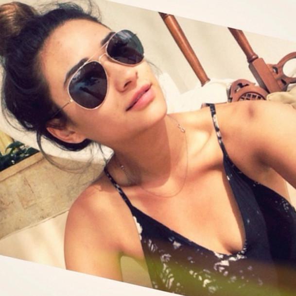 sunglasses cute shay mitchell glasses pretty sunglasses blouse