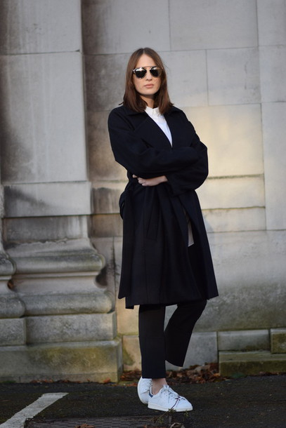 shot from the street blogger black coat