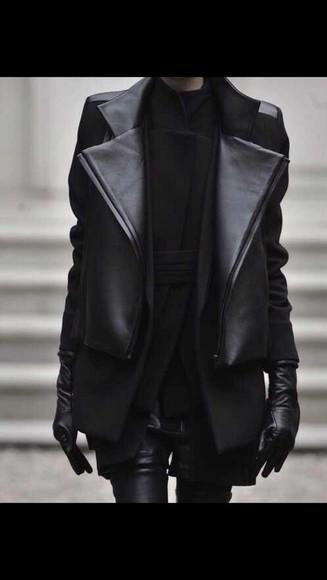 jacket shirt all black all black everything gloves