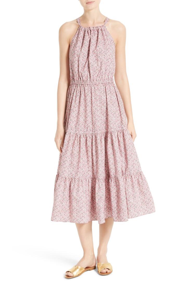 238eed9224f9 La Vie Rebecca Taylor Meadow Floral Tie Back Tiered Sundress | Nordstrom