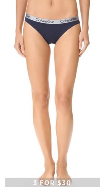 Calvin Klein Underwear Radiant Cotton Thong - Ocean Floor