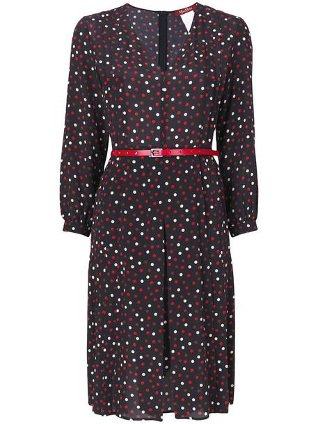 Max Mara Studio dress belted dress women silk
