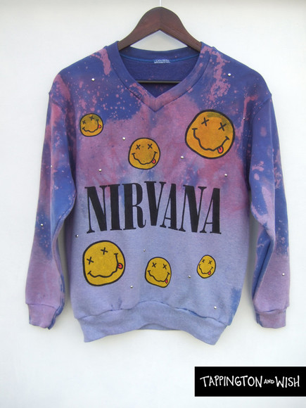 nirvana grunge sweater jumper studs top