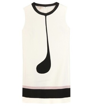 top printed top sleeveless white