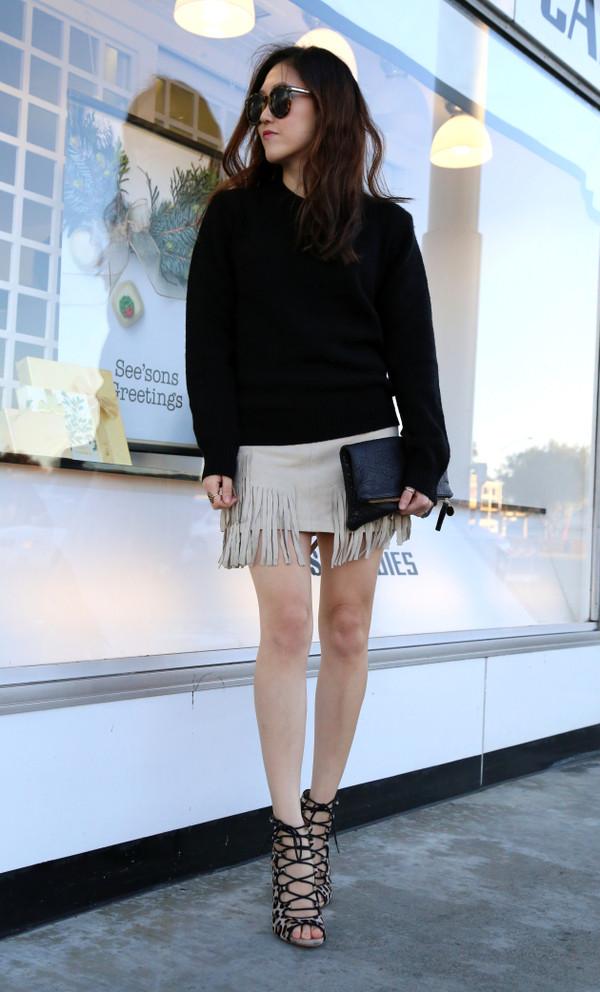 newborn fanatic sweater skirt shoes bag sunglasses