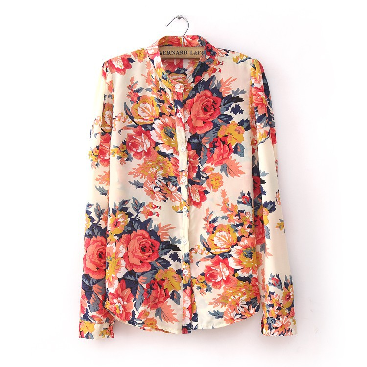 Shirts Blouses New Fashion 2015 Spring European Vintage Style ...