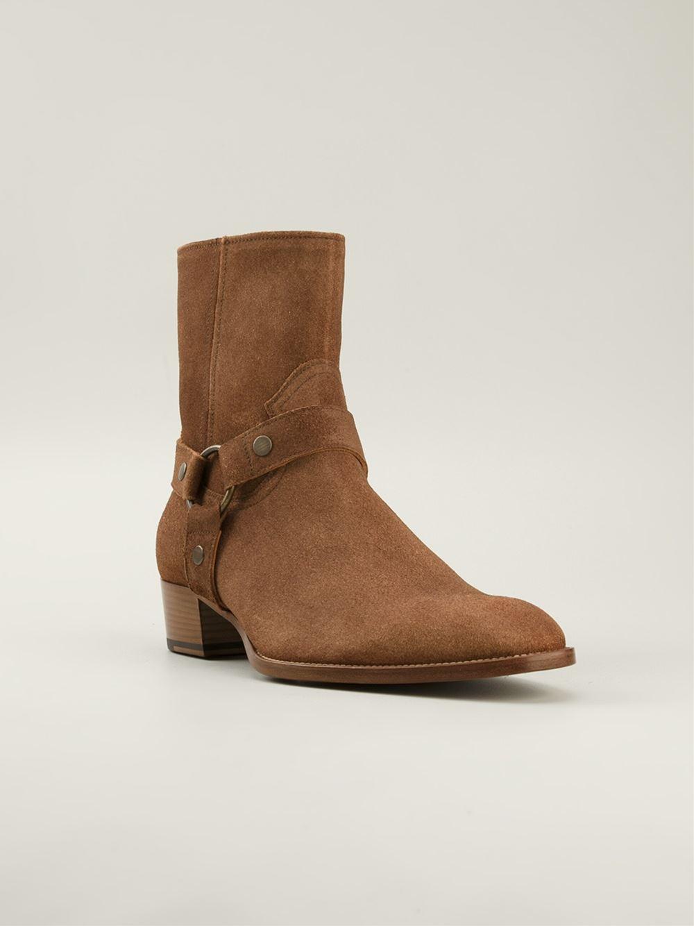 Saint Laurent 'wyatt' Ankle Boots - Vitkac - Farfetch.com