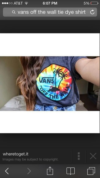 vans vans of the wall tye dye shirt, t-shirt vans t-shirt