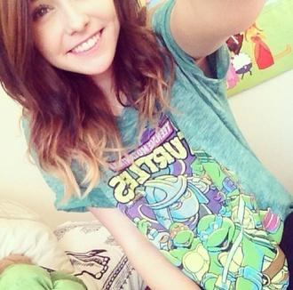 shirt acacia brinley acacia t-shirt cute cool shirts pretty green punk ninja turtles
