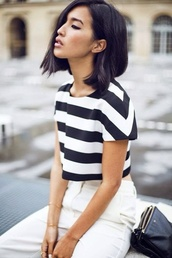 top,blue,white,stripped top,striped shirt,summer outfits,summer top,style,summer
