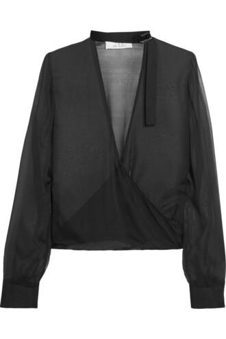 blouse chiffon blouse chiffon silk black top