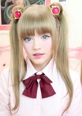 hair accessory dakota rose kotakoti sailor moon bows bowtie bowknot school girl school uniform burgundy maroon/burgundy pastel pink