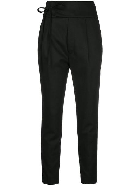 En Route cropped women black wool pants