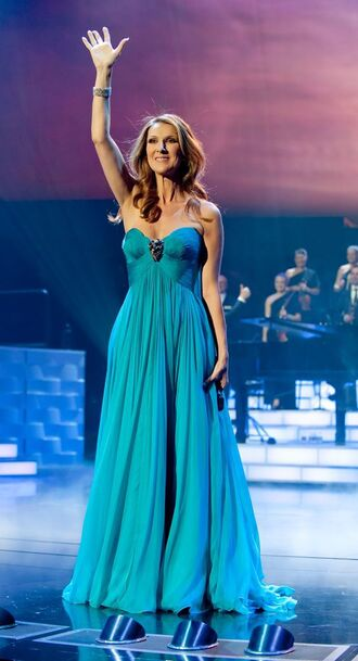 dress celebrity style celebrity singer blue dress maxi dress tube dress gown prom gown